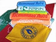 Махровые покрывала пледы полотенца с нанесением логотипа заказчика